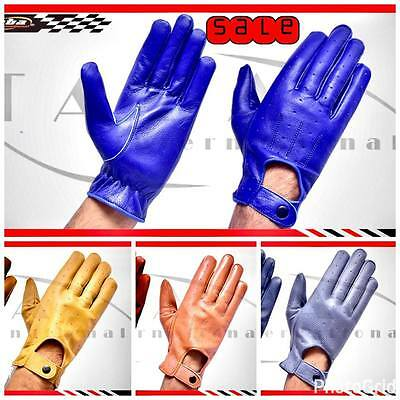 Mens Real Leather Top Quality Car Truck Driving Glove Free Shipping Worldwide