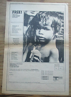"""ROLLING STONE Magazine """"Subscription Page"""" Poster Size Advert 1970 ( 16 x 11 )"""