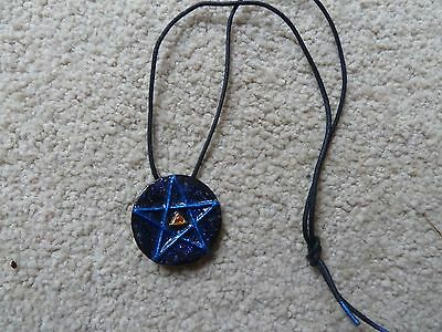 fatigue picture anti star snowflake glass with beaded blue bracelet of pendant
