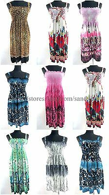 US Seller- wholesale 10pcs beach fashion women retro boho sundress mini dress