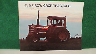 Tractor brochure on MF Row Crop Tractors, 81 to 135 H.P. from 1971, excellent.