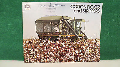 Cotton Pickers and Strippers brochure for John Deere from 1979, good shape.