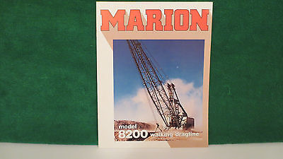 Mining Brochure on Marion Model 8200 Walking Dragline from 1982, excellent shape