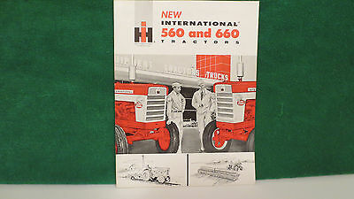 Tractor brochure on New IHC Model 560 and 660 Tractors from 1959, very nice.