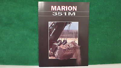 Mining brochure on Marion Model 351M Mining Shovel from 1995 ?, excellent.