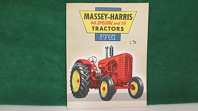 Tractor brochure on Massey-Harris 44 Special and 55 Tractors from 1955, nice.