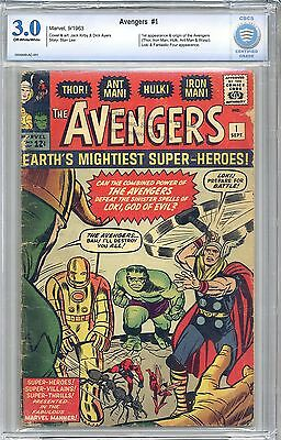 AVENGERS #1 CBCS 3.0 OW/WHITE PGS -Not CGC- FREE SHIPPING Lowest Priced Copy