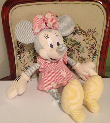 Minnie Mouse Pinstriped Plush Doll - Disney Store