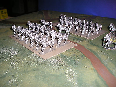 25mm RAFM HORSES for cavalry units x 36 castings - unpainted job lot