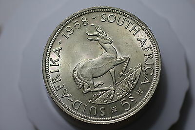 South Africa 5 Shillings 1958 Silver High Grade A61 #1506