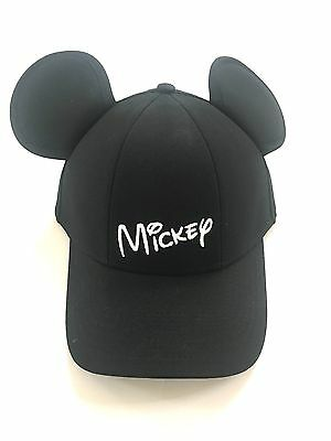 Disney Mickey Mouse Baseball with Ears, Black Mens Hat Cap