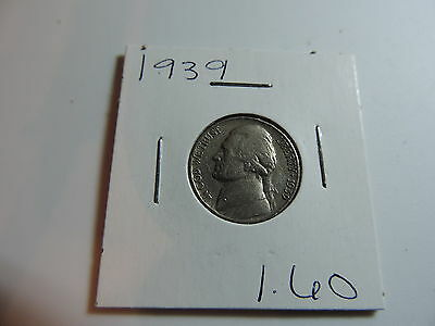 1939 US American Nickel coin A572