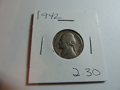 1942 US American Nickel coin A568