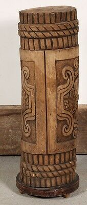 Vintage Authentic Carved Tribal Drum