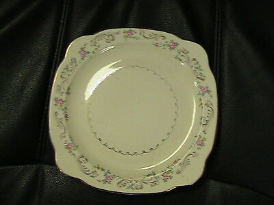 """Vintage Paden City Pottery 8"""" square shabbylicous plate"""