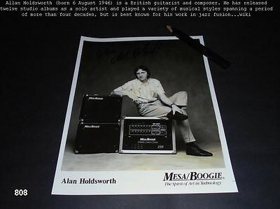 Allan Holdsworth -  Autogramm - signiert - signed - Autograph - MESA / BOOGIE