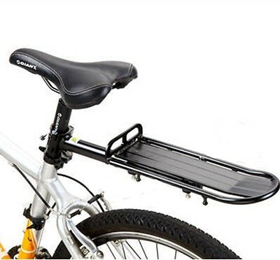 Extendable Bicycle Bike Alloy Rear Rack Carrier Seatpost Pannier Quick Release