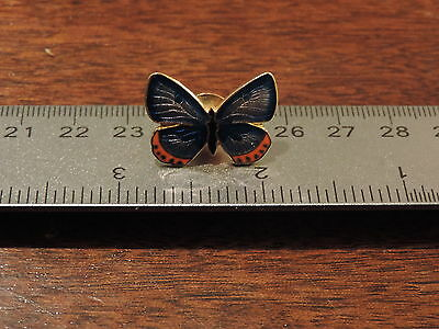 Blue Winged Butterfly Lapel Hat Pin 2C