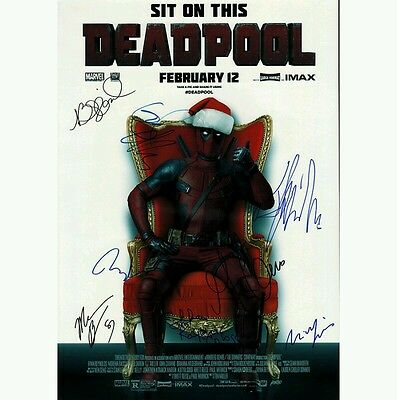 Script Screenplay  Deadpool  Unique  Printed Signed Cover Ryan Reynolds