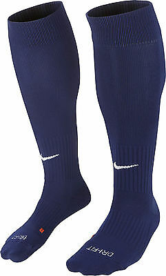 SOCKS FOOTBALL/ SOCCER NIKE CLASSIC CUSHIONED NAVY BLUE 5 SIZES KIDS to ADULT