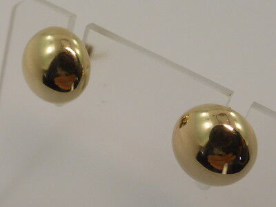 9ct Solid Yellow Gold Button Ball Studs Earrings