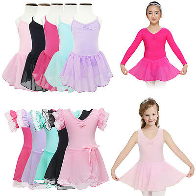 Girls Gymnastics Ballet Dress Baby Kids Leotard Tutus Skirt Dance wear Costume