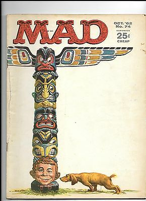 MAD MAGAZINE #74 OCT 1962 FINE 7.0 SHAPE Bag/Boarded combined shipping VINTAGE