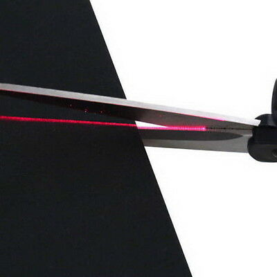 Laser Guided Fabric Scissors Trimmer Sewing Cut Straight Fast Paper Craft @B