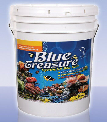 Blue Treasure 20Kg Bucket Marine Reef LPS Sea Salt  (Australia wide delivery)