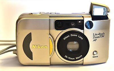 "Nikon ""Lite*Touch"" Zoom 70W 35mm Film Camera-Nikon Lens-Great working condition."