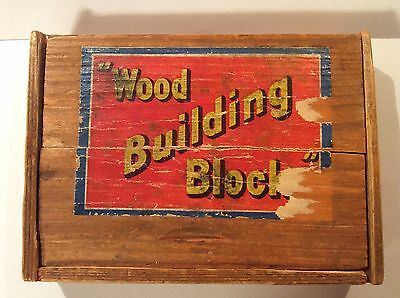 Vintage Wood Building Block Set From Germany in Original Box
