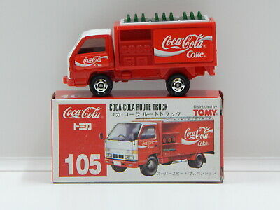 Coca-Cola Route Truck with Decal Sheet - Made in China Tomica 105