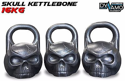 Kettle Bell 16kg KettleBONE Skull Cast Iron Pro Grade for Conditioning/Crossfit