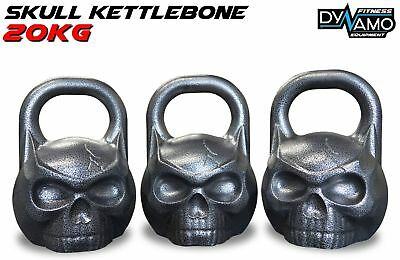 Kettle Bell 20kg KettleBONE Skull Cast Iron Pro Grade for Conditioning/Crossfit