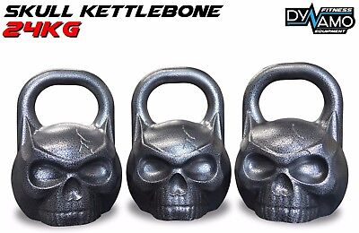 Kettle Bell 24kg KettleBONE Skull Cast Iron Pro Grade for Conditioning/Crossfit