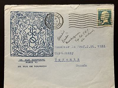 France Cover 1932 to Canada .