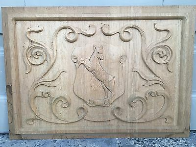 Decorative Carved Panel in wood / oak circa 1920 - A2