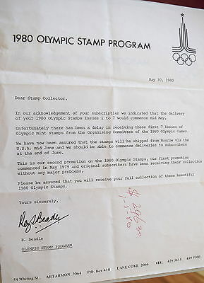 1980 Olympic Stamp Album - MUH ... am also selling an Olympics FDC album