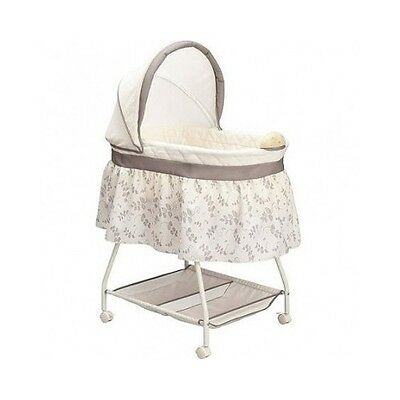 Portable Baby Bed Bassinet Infant Crib Canopy Sleeper Storage Music Newborn New