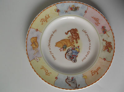 New - Royal Doulton Winnie The Pooh Christening Collection Fine China Plate