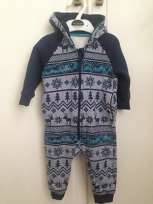 Mothercare Boys Winter All In One With Hood 6-9 Months