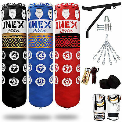 Multi Product 5ft Filled Heavy Punch Bag Professional Set,Chains,Bracket,Gloves