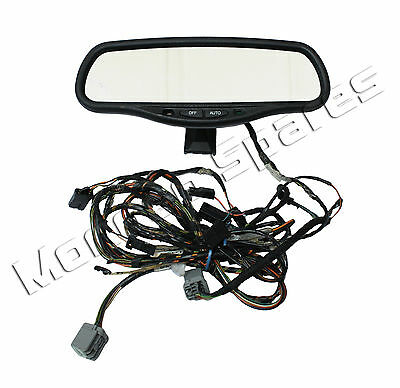 Ford Mondeo Mk3 Interior Auto Rear View Dim Dimming Mirror & Wiring 2001 - 2003