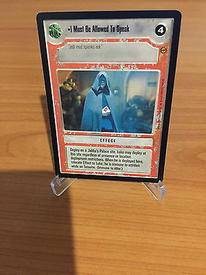 Star Wars CCG I MUST BE ALLOWED TO SPEAK Jabba's Palace Rare