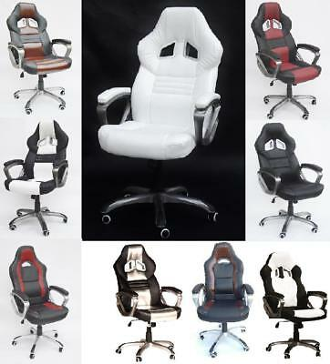 Swivel Chair Sport Seat Executive Office Stuhl Racing Bucket Racer