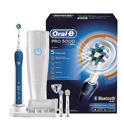 Braun Oral-B Pro 5000 CrossAction Electric Toothbrush + Bluetooth Connectivity