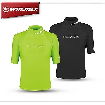 WINMAX Lycra Rash Guard Surf Clothing Diving Suits Shirt Short Sleeve Swimwear