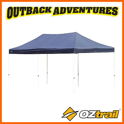 OZTRAIL DELUXE PAVILION GAZEBO 6 x 3m OUTDOOR SHADE SHELTER