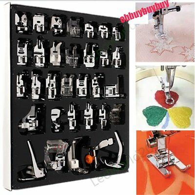 Set of 32pcs Sewing Machine Foot Feet Accessory For Brother Janome NewHome PC365