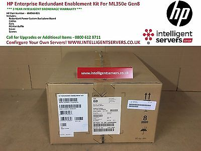 HP Enterprise Redundant Enablement Kit For ML350e Gen8 * 664046-B21 *